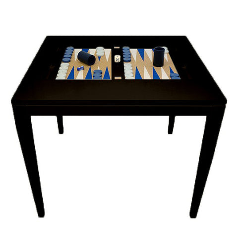 Lacquer Square Backgammon Table - Black (16 colors available)