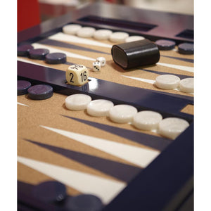 Lacquer Backgammon Table - Black (19 colors available)