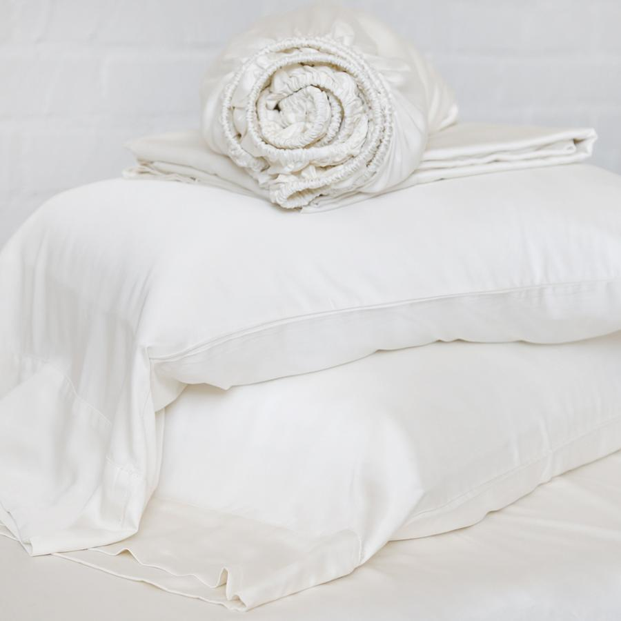 POM POM AT HOME BAMBOO SHEET SET - IVORY