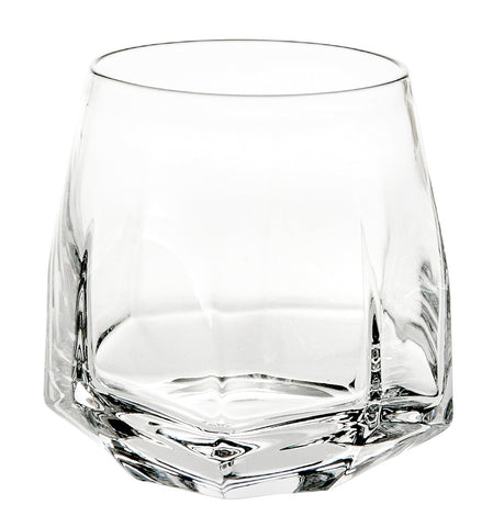 Barware - Set Of 2 Crystal Gemstone Double Old Fashioned Glasses