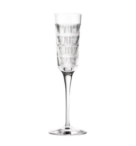 Barware - Set Of 4 Crystal Vendome Linear Champagne Flutes
