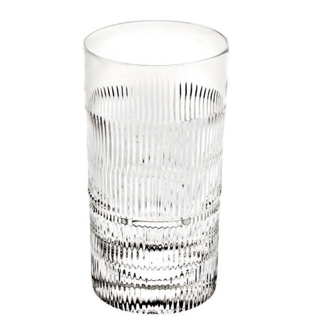 Barware - Set Of 4 Crystal Vendome Linear Highball Glasses