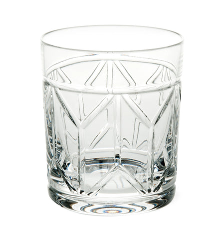 Barware - Set Of 4 Hollywood Crystal Double Old Fashioned Glasses