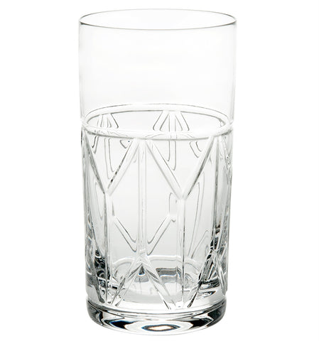 Barware - Set Of 4 Hollywood Crystal Highball Glasses