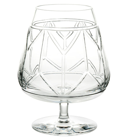 Barware - Set Of 4 Hollywood Crystal Snifter Glasses