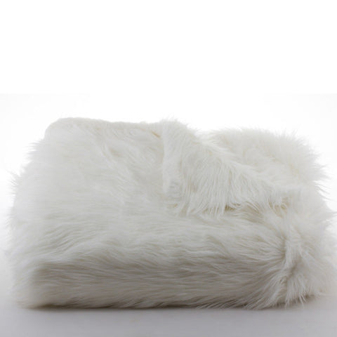 Bedding - Australian Sheep Faux Fur Throw & Coverlet - Ivory