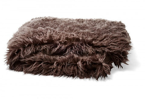 Bedding - Mongolian Faux Fur Throw - Charcoal
