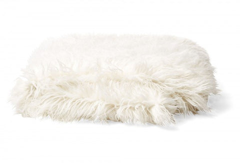 Bedding - Mongolian Faux Fur Throw - Cream