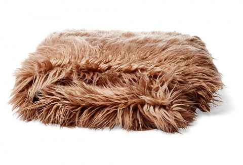 Bedding - Mongolian Faux Fur Throw - Mocha