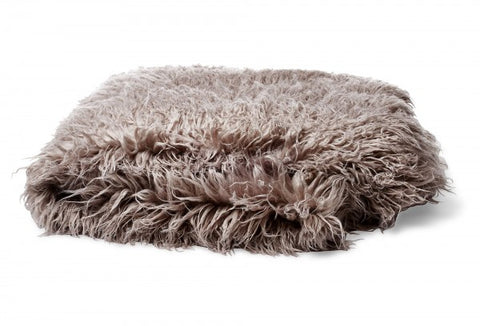 Bedding - Mongolian Faux Fur Throw - Silver