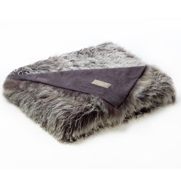 Bedding - Tibetan Lamb Throw - Grey Frost