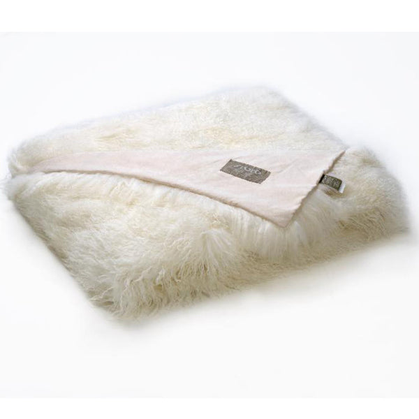Bedding - Tibetan Lamb Throw - Ivory