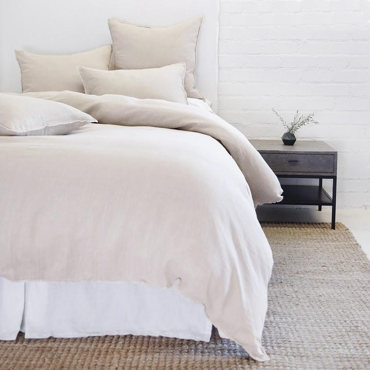 POM POM AT HOME BLAIR-TAUPE-DUVET-COVER