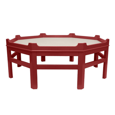 Westport Octagon Lacquer Coffee Table – Bolero Red (16 colors available)