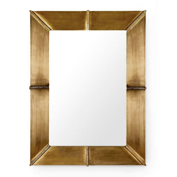 Bungalow 5 BREA-Antique Brass Sheathed Rectangular Mirror