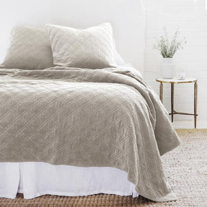 POM POM AT HOME BRUSSELS - TAUPE - COVERLET