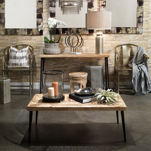 Rustic Wood & Antique Iron Console Table
