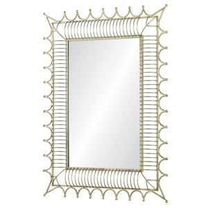 Ornate Frame Iron Mirror - Available in 2 Finishes