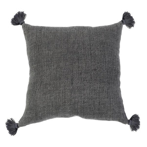 "POM POM AT HOME MONTAUK 20"" PILLOW WITH TASSELS - 7 COLORS"