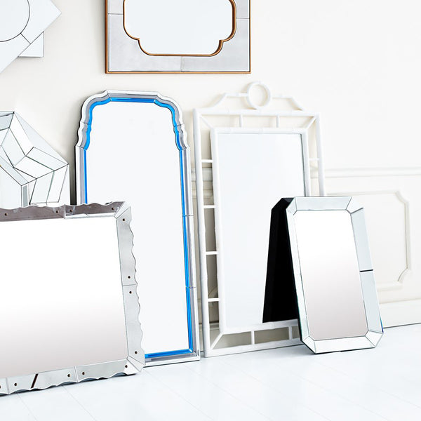 Bungalow 5 Fretwork Mirror – White Lacquer