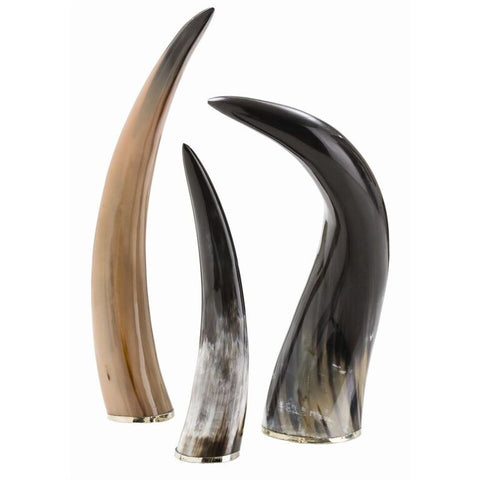 Decor - Arteriors Bernard Horn Sculpture - Set Of 3