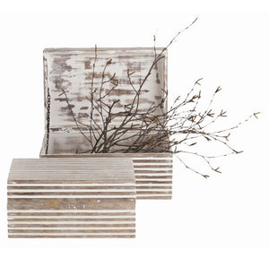 Decor - Arteriors Trinity Small White Washed Boxes — Set Of 2