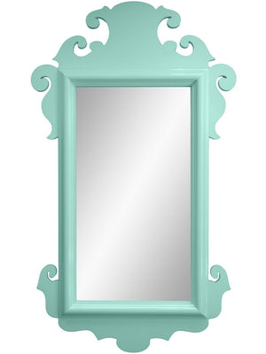 Charleston Lacquer Mirror - Ocean Blue (Additional Colors Available)