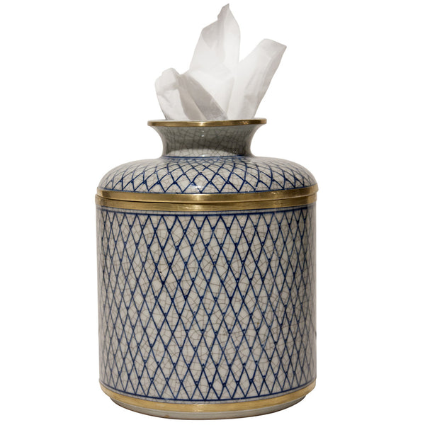 Decor - Diamond Pattern Tissue Box – Crackle