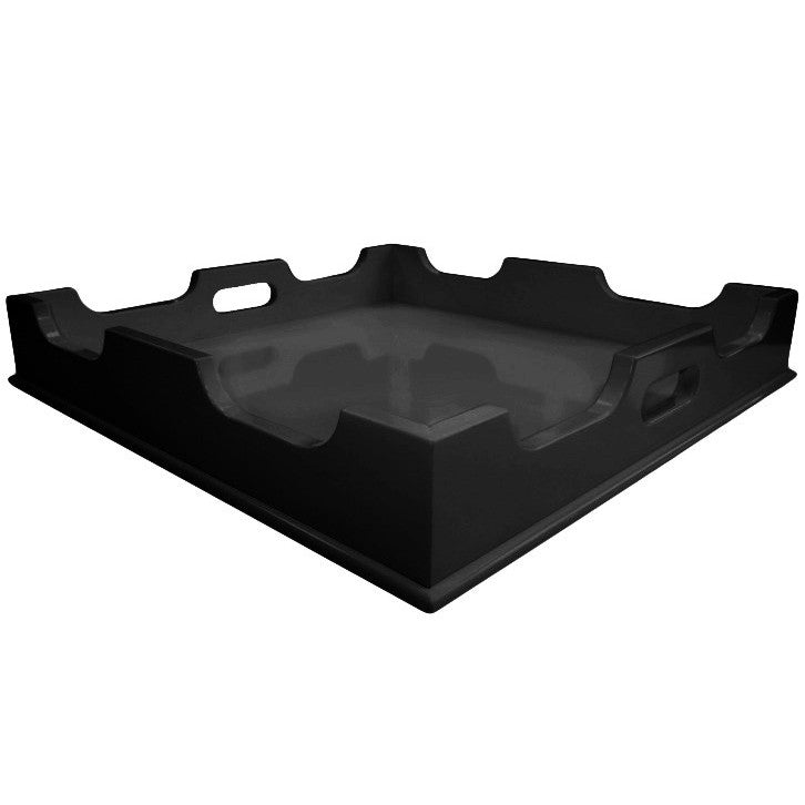 Decor - Lacquer Square Tray - Black (16 Colors Available)