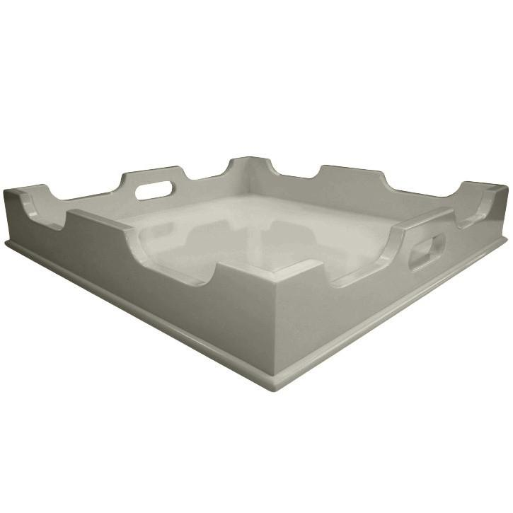 Lacquer Square Tray - Fawn Grey (Additional Colors Available)