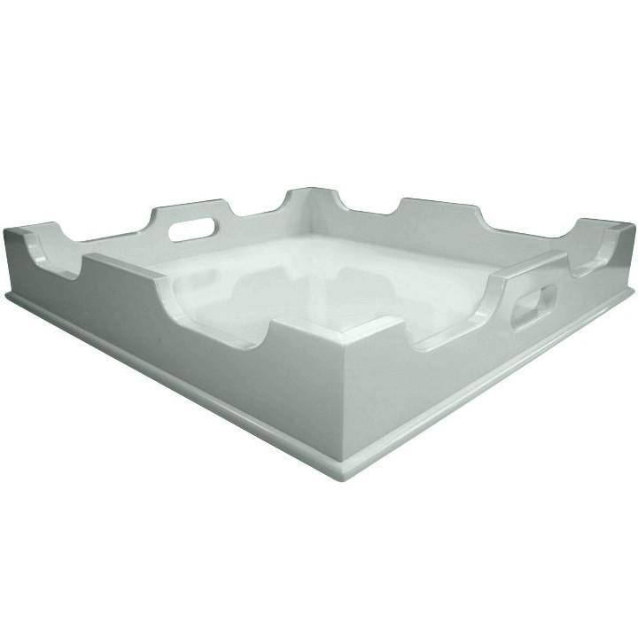 Lacquer Square Tray - Blue/Green (Additional Colors Available)
