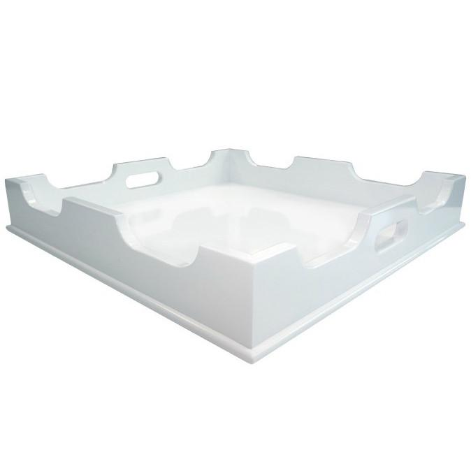 Lacquer Square Tray - White (Additional Colors Available)