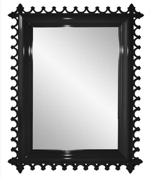 Decor - Newport Lacquer Mirror - Black (16 Colors Available)