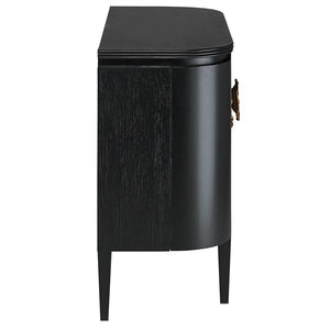 Currey and Company Demi-Lune Cabinet – Black