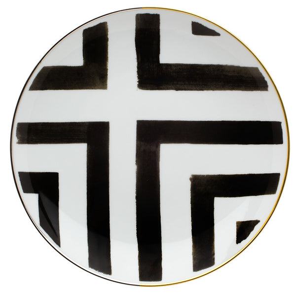 Dinnerware - 5 Piece Place-Setting Christian Lacroix Graphic Stripes Dinnerware - Black & White