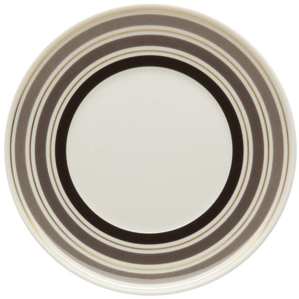 Dinnerware - 5 Piece Place Setting Concentric Rings Dinnerware - Taupe