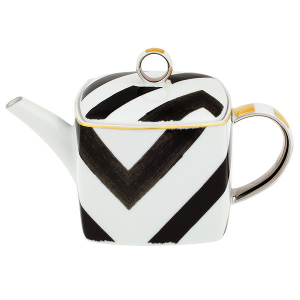 Dinnerware - Christian Lacroix Graphic Stripes Teapot - Black & White