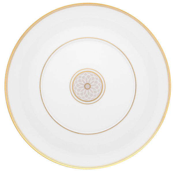 Dinnerware - Terrace Dessert/Salad Plates - Gold & Taupe (Sets)