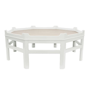 Westport Octagon Lacquer Coffee Table – White (Additional Colors Available)