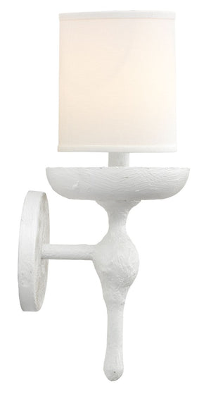 Concord Wall Sconce in White Plaster