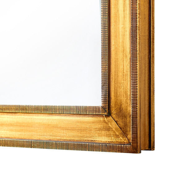 Bungalow 5 ELLEN -Antique Brass Sheathed Rectangular Mirror – Small
