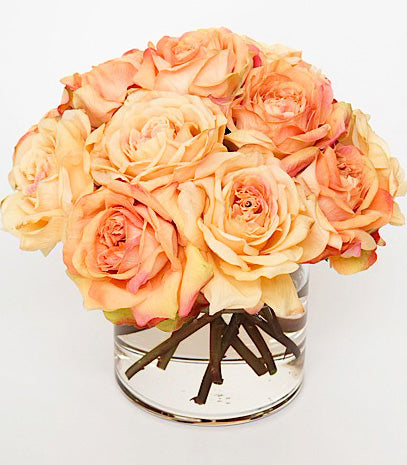 Faux Florals - Sunset Duchess Silk Rose Arrangement