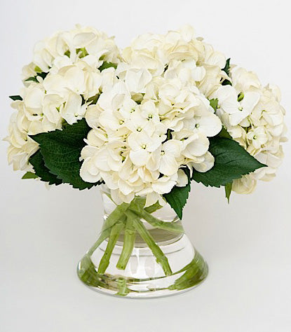 Faux Florals - White Silk Hydrangea Arrangement