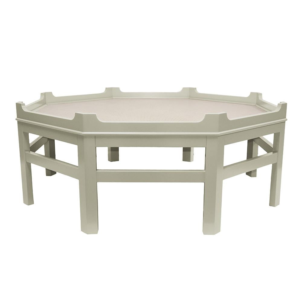 Westport Octagon Lacquer Coffee Table – Grey (Additional Colors Available)