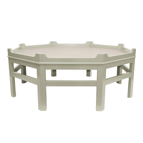 Westport Octagon Lacquer Coffee Table – Fawn Grey (16 colors available)