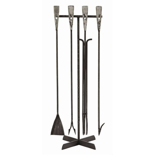 Fireplace Accessories - Arteriors Henry Industrial Fireplace Tools - Iron