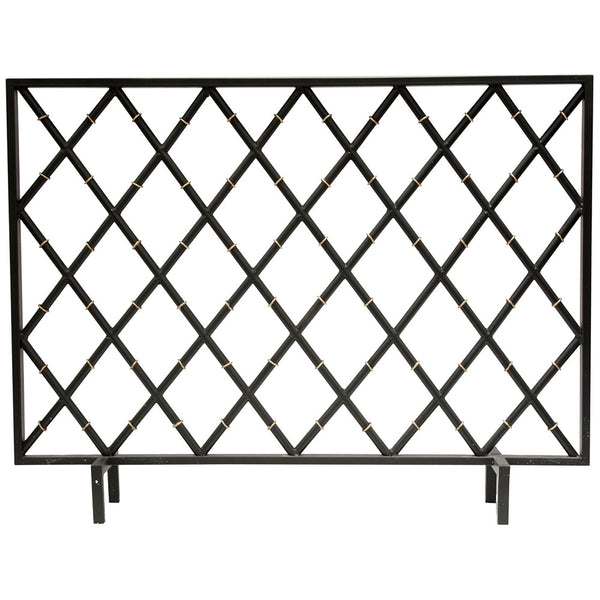 Fireplace Accessories - Diamond Pattern Fireplace Screen