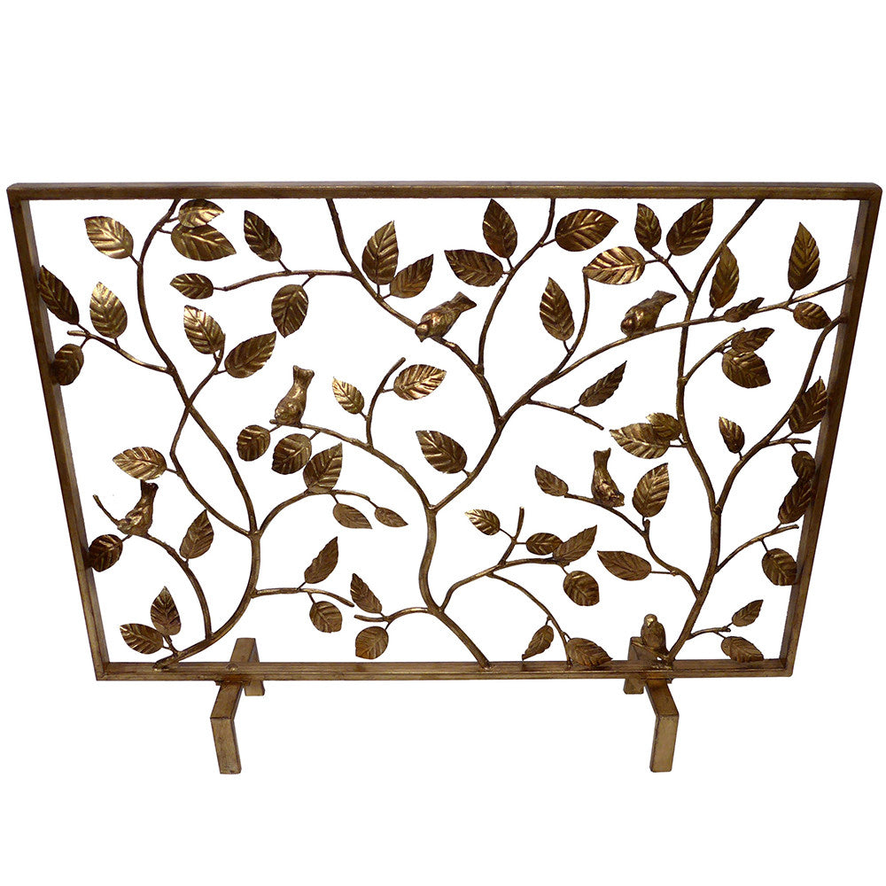 vine fireplace screen u2013 antique gold scenario home