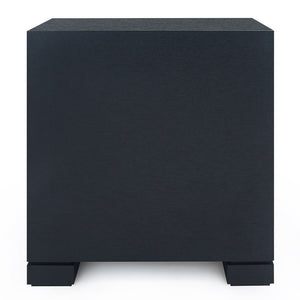 Bungalow 5 Tailored 2-Drawer Nightstand – Navy Blue Grasscloth