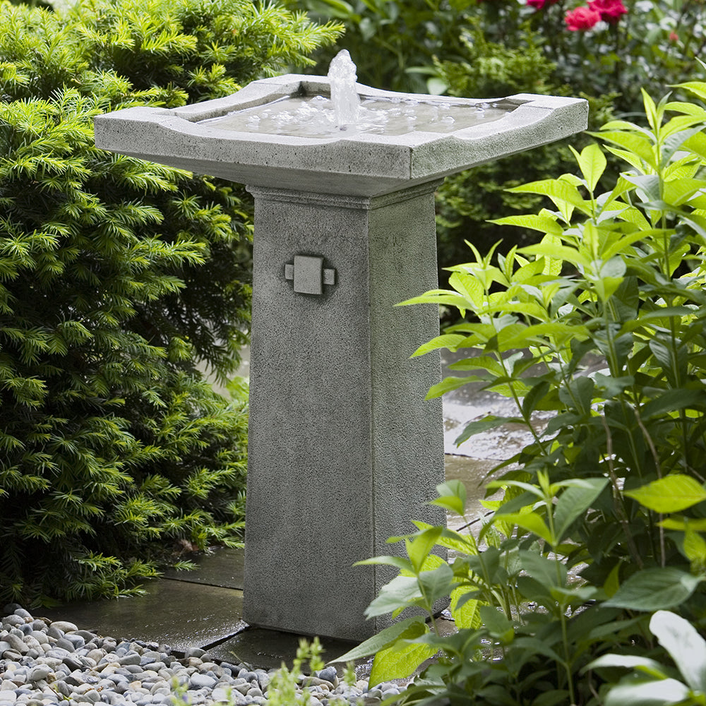 Pagoda Stone Fountain - Alpine Stone Patina